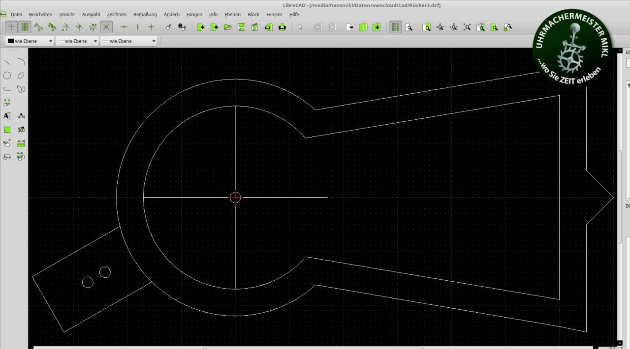Rücker mit CAD gezeichnet.