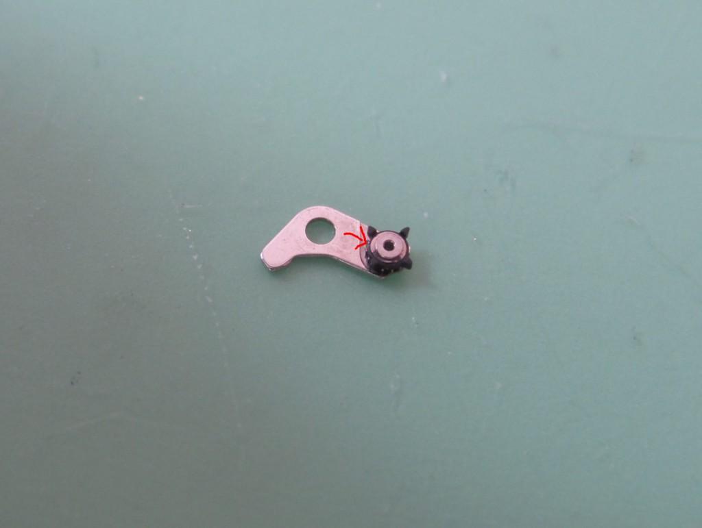 Das beschädigte Kunststoffrad.